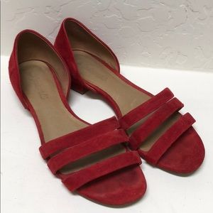 Madewell red sandals sz 7.5